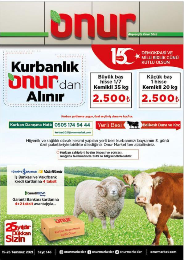 Onur Market İndirim Kataloğu 15-28 Temmuz İstanbul & Trakya Bölge