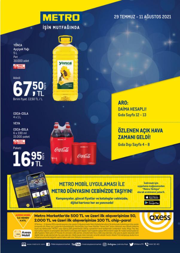 Metro Katalog 29 Temmuz – 11 Ağustos Genel
