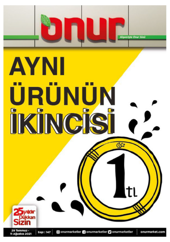 Onur Market İndirim Kataloğu 29 Temmuz – 11 Ağustos İstanbul & Trakya Bölge